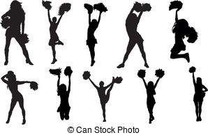 Cheerleader silhouette set Clip Artby Vector2Go22/1,261 Cheerleaders