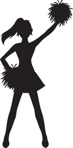Cheerleader Clipart Image Silhouette Of A Cheerleader