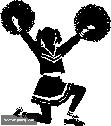 Cheerleader free cheerleading clip art black and white on dayasrionp bid 2