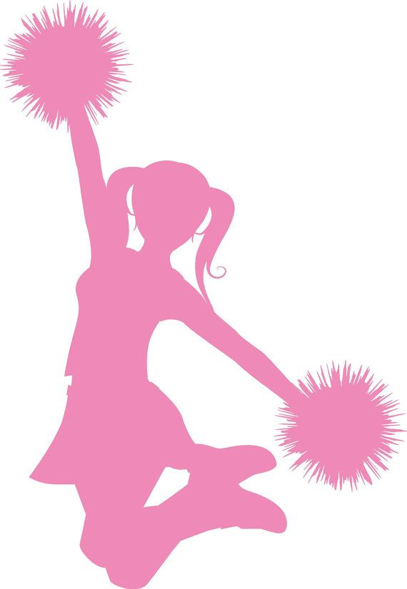 Cheerleader Silhouette Vinyl Wall Decal by VinylOnTheGo on Etsy, $25.00