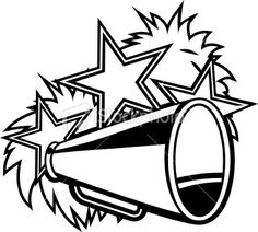 cheerleading clipart u0026middot; Megaphone Clip Art