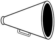 ... Cheerleading Clipart Megaphone ...-... Cheerleading clipart megaphone ...-10