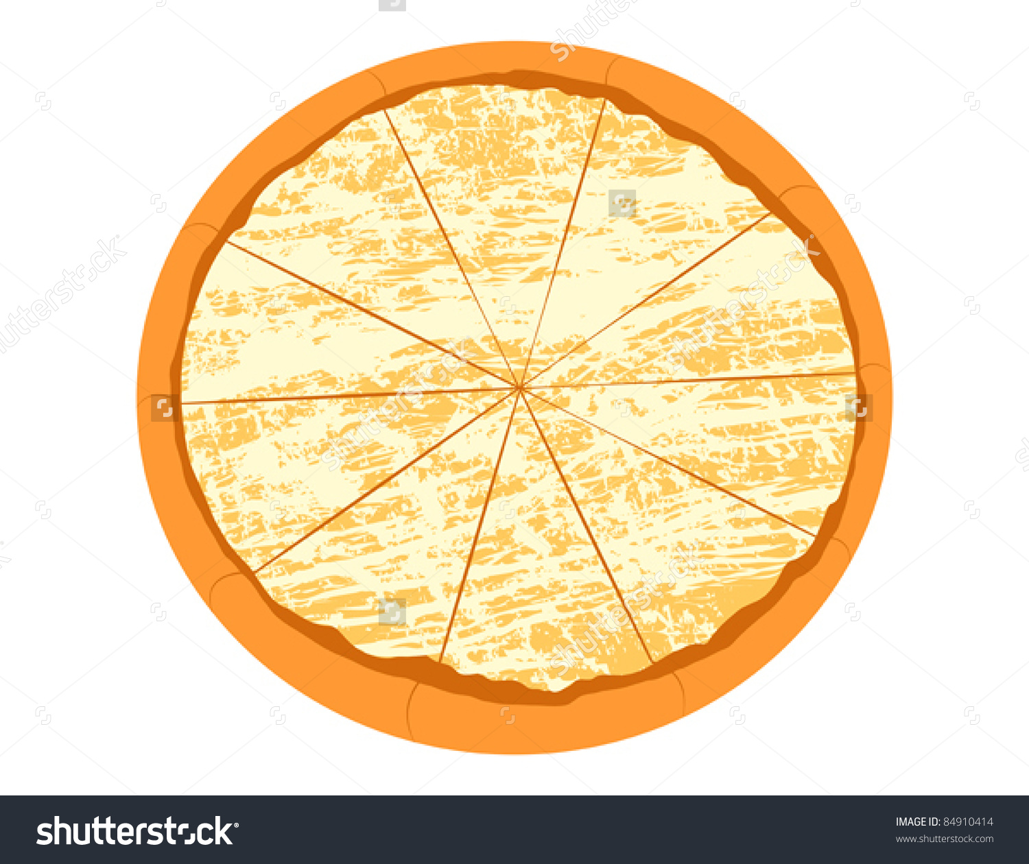Cheese Pizza Vector .