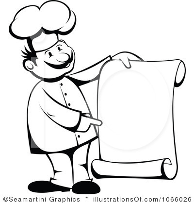 chef clipart black and white - Chef Clipart Free
