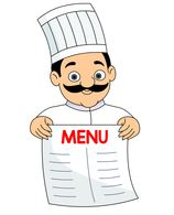 chef holding a menu clipart-chef holding a menu clipart-11
