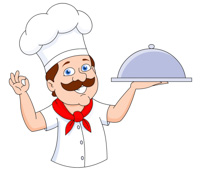 Chef Holding Covered Food Tray Clipart. -chef holding covered food tray clipart. Size: 96 Kb-5