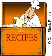 ... Chef In A Recipe Box - This Illustra-... Chef In A Recipe Box - This illustration depicts a chef in a.-2