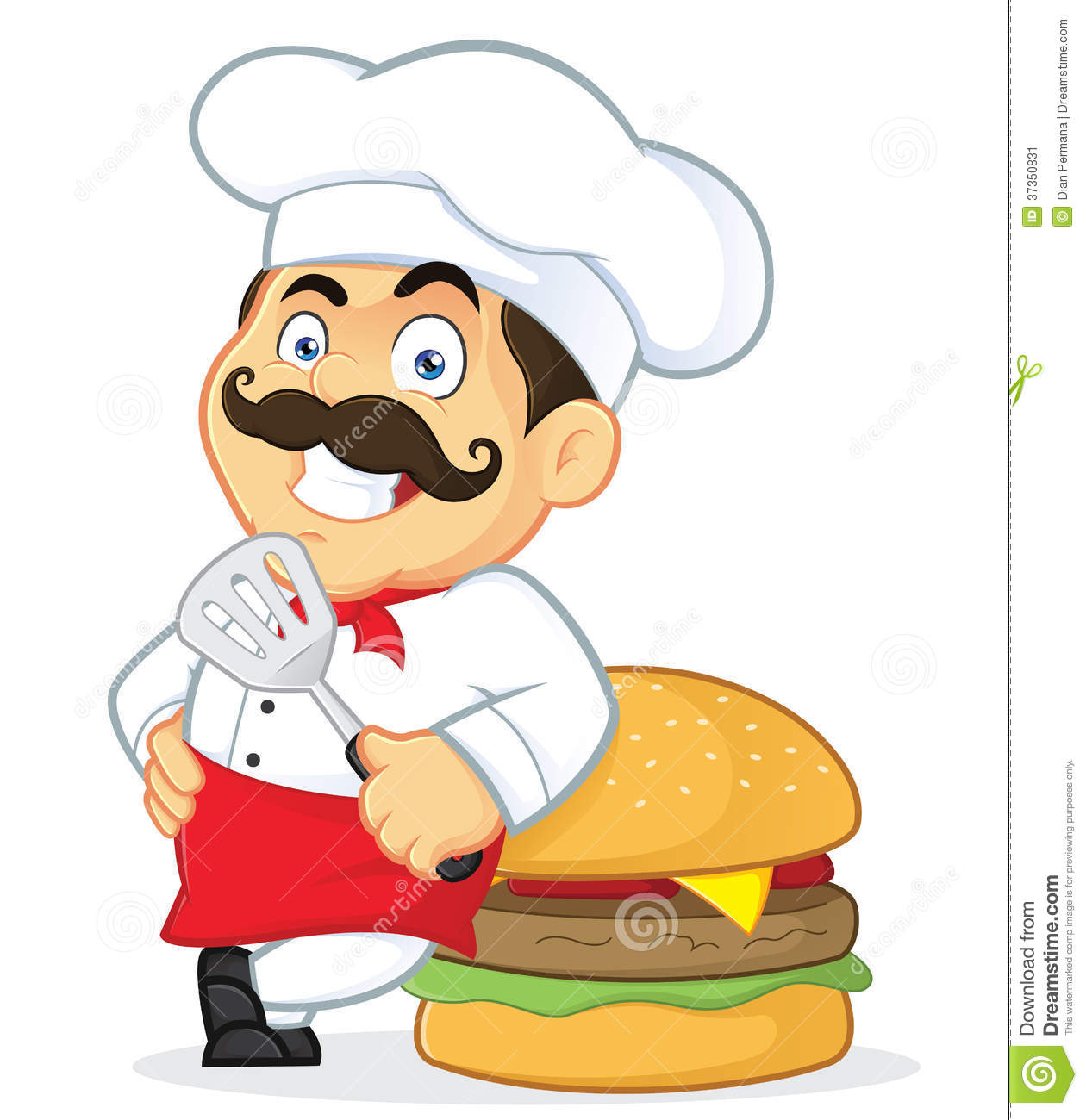 Chef With Giant Burger Stock Image-Chef with Giant Burger Stock Image-8