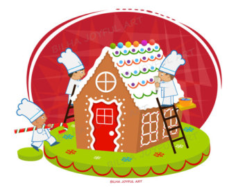 Gingerbread House and Man . C