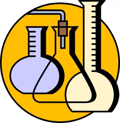 Chemical Lab Flasks Clip Art Free Vector-Chemical Lab Flasks Clip Art Free Vector In Open Office Drawing Svg-1