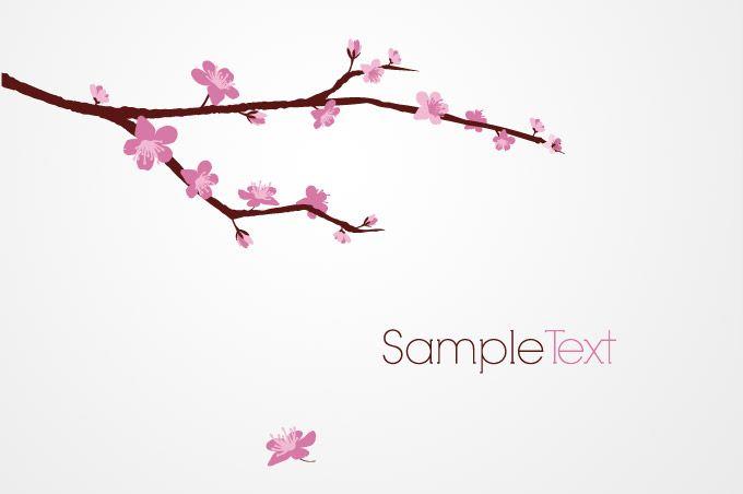 Cherry Blossom Tree Clip Art Tree Branch Vector Free Vector