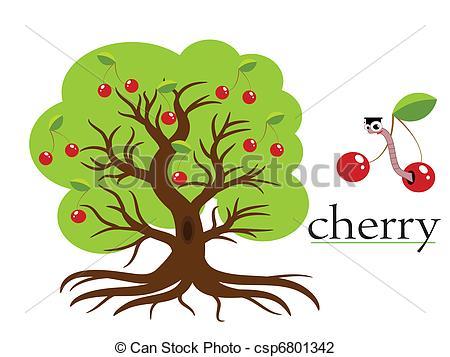 Cherry Tree Clip Artby ...-Cherry tree Clip Artby ...-10