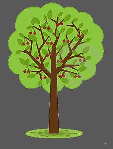 ... Cherry Tree V   Free Images - Vector-... Cherry Tree V   Free Images - vector clip art online .-11