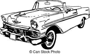 56 Chevrolet Convertible - 56 chevrolet convertible, black.
