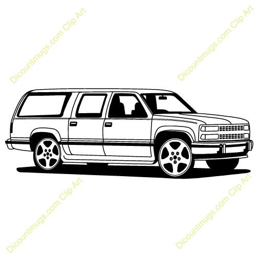 Chevrolet Suburban Clipart #1