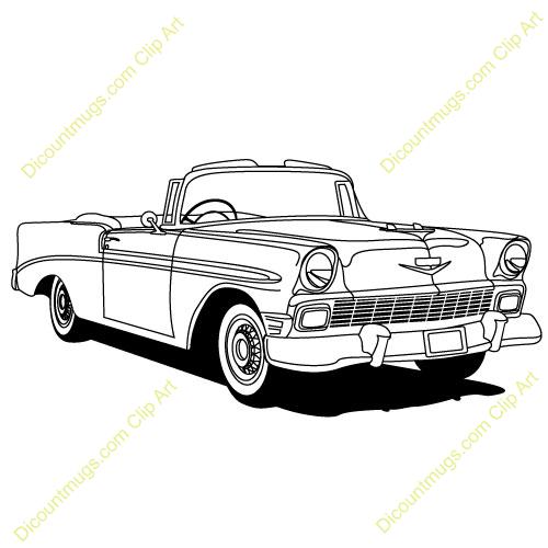 Chevy Classics Car Clip Art