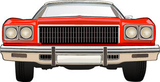 Retro Car Chevrolet. CHEVROLET. Vector illustration of the classical car  Stock Image