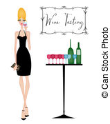 ... Chic Woman at a Wine Tasting - Elegant young woman drinking.