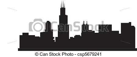 chicago skyline Clipartby ...