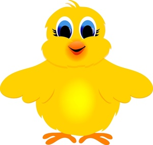 Chick Clipart Image Cartoon Easter Chick