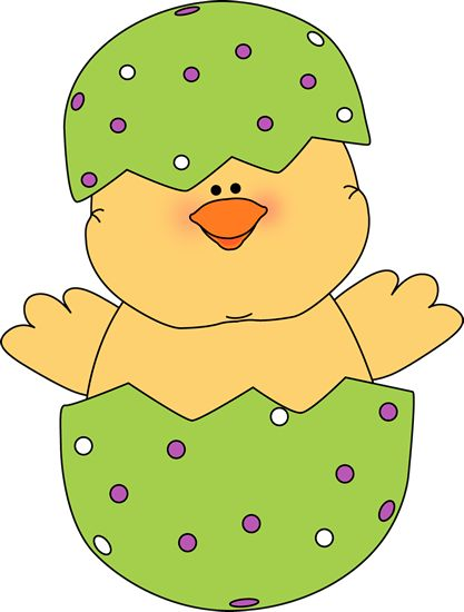 Chick In An Easter Egg. Easter Clipart I-Chick in an Easter egg. Easter clipart ideas-5