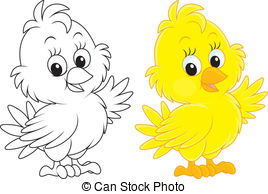 ... Chick - Little Yellow Chick, Color A-... Chick - Little yellow chick, color and black-and-white.-10