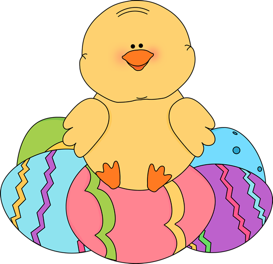 Chick Sitting On Easter Eggs-Chick Sitting on Easter Eggs-3