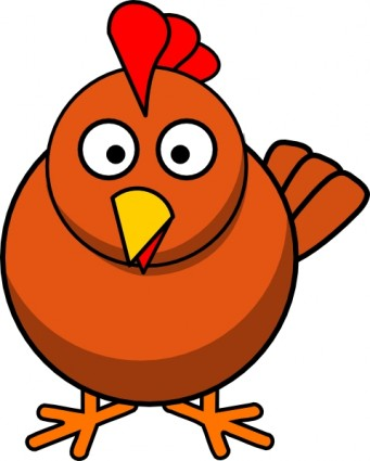 Chicken Cartoon clip art Vector clip art - Free vector for free