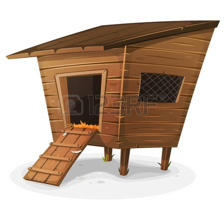 Chicken Coop: Illustration Of A Cartoon -chicken coop: Illustration of a cartoon wooden farm chicken coop, with  entrance and little-6