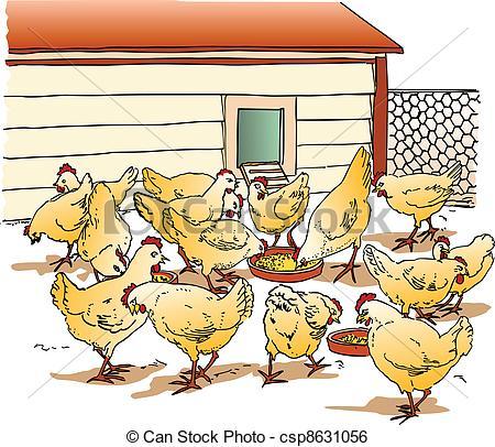 ... Chicken Coop - Image Representing A -... Chicken Coop - Image representing a chicken coop, isolated.-7