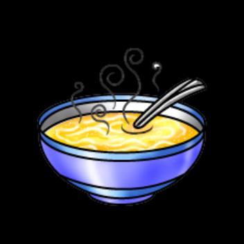 Chicken noodle soup cartoon clipart kid