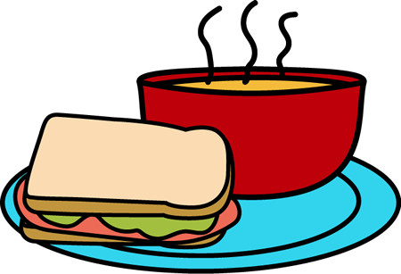 Chicken noodle soup lunch clipart kid