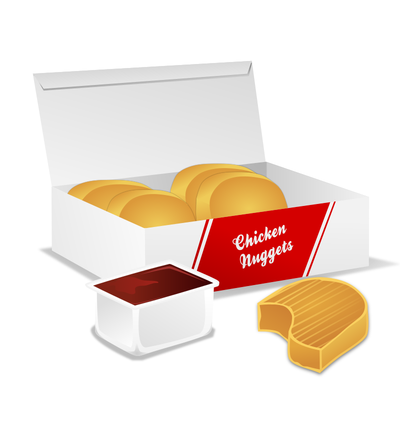 Chicken Nuggets By Gnokii Box - Chicken Nuggets Clipart