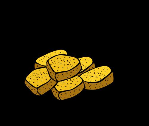 Chicken nuggets vector illustration