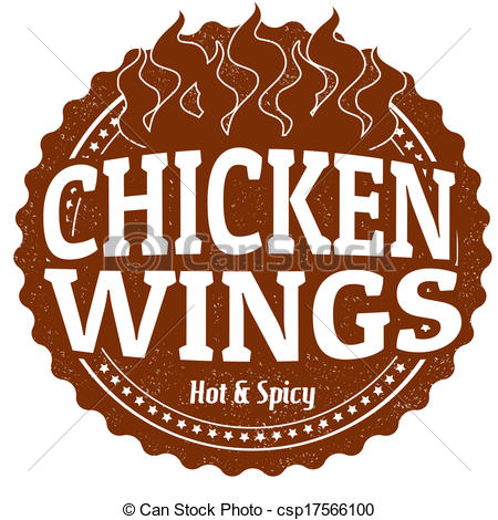 ... Chicken Wings stamp - Chicken Wings grunge rubber stamp on.