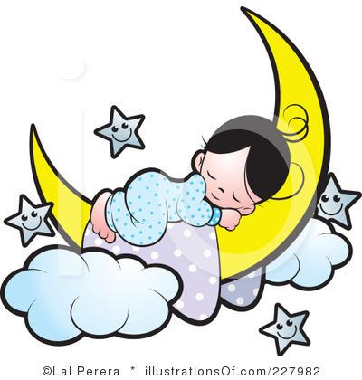 child sleeping clipart