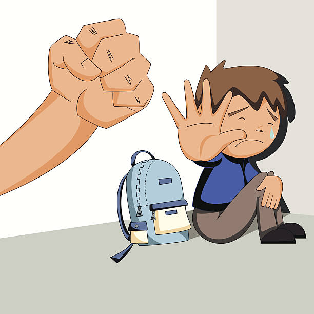 Child Abuse, Bullying, Harassment Vector-Child abuse, bullying, harassment vector art illustration-6