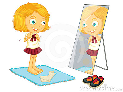 Illustration Of A Girl Gettin
