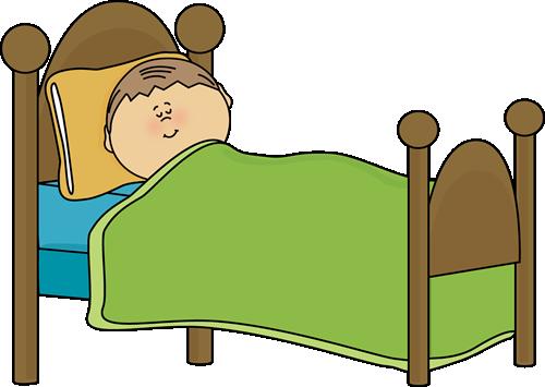 Child Sleeping Clip Art Image - child sl-Child Sleeping Clip Art Image - child sleeping in a bed.-5