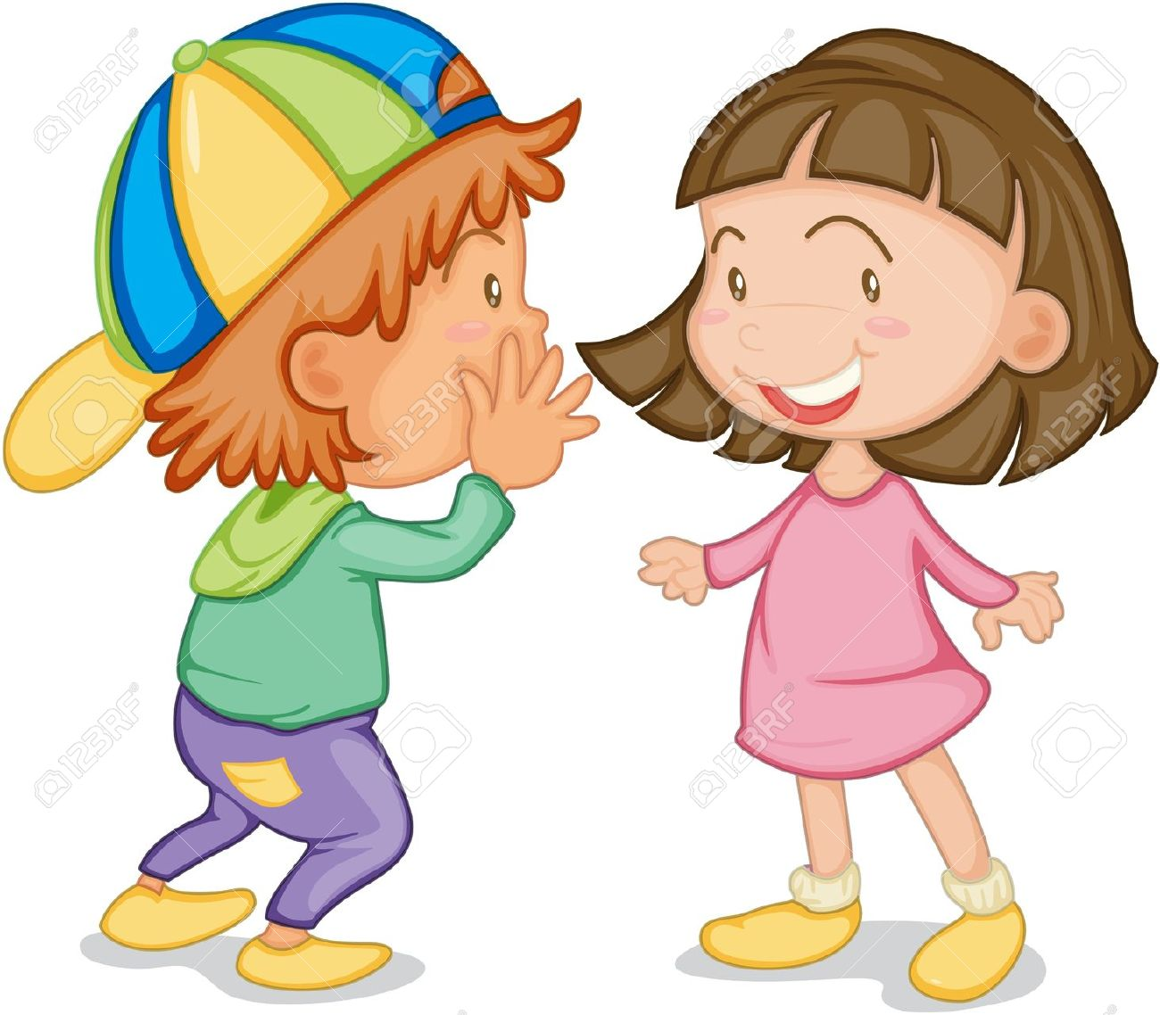 Child Speaking: Illustration .-child speaking: illustration .-3