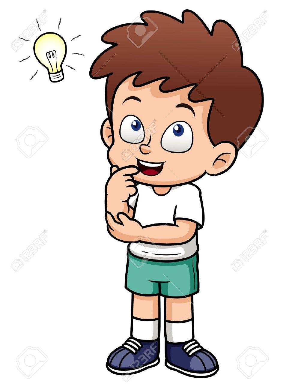 Child Thinking Clipart #14285