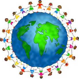 children around the world clipart