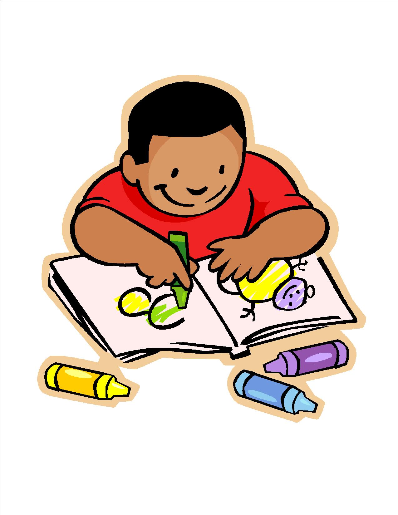 Writing baby. Child clipart look at