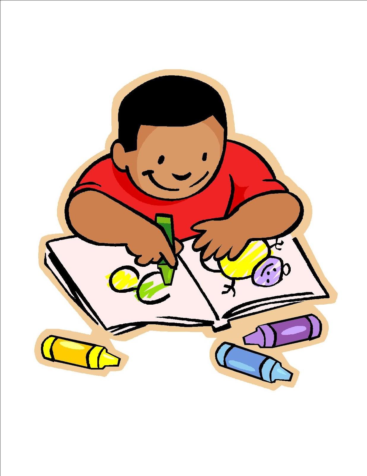 children writing clipart