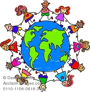 Children around the world ... Royalty Free Clipart Image: .
