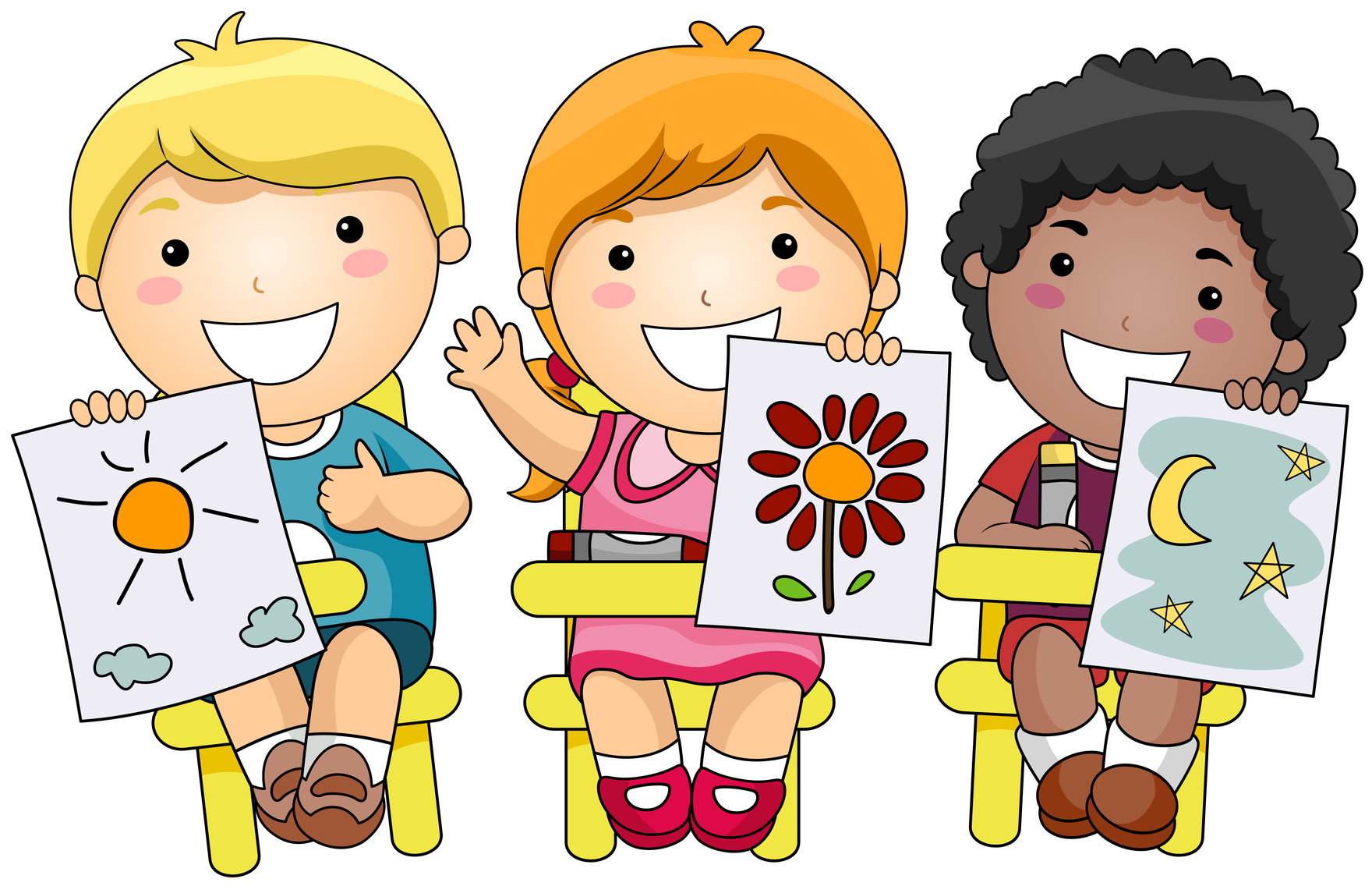 Children art clip art - ClipartFest