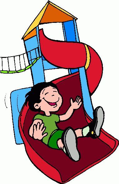 children at play clip art | kid_on_slide_1 clipart clip art