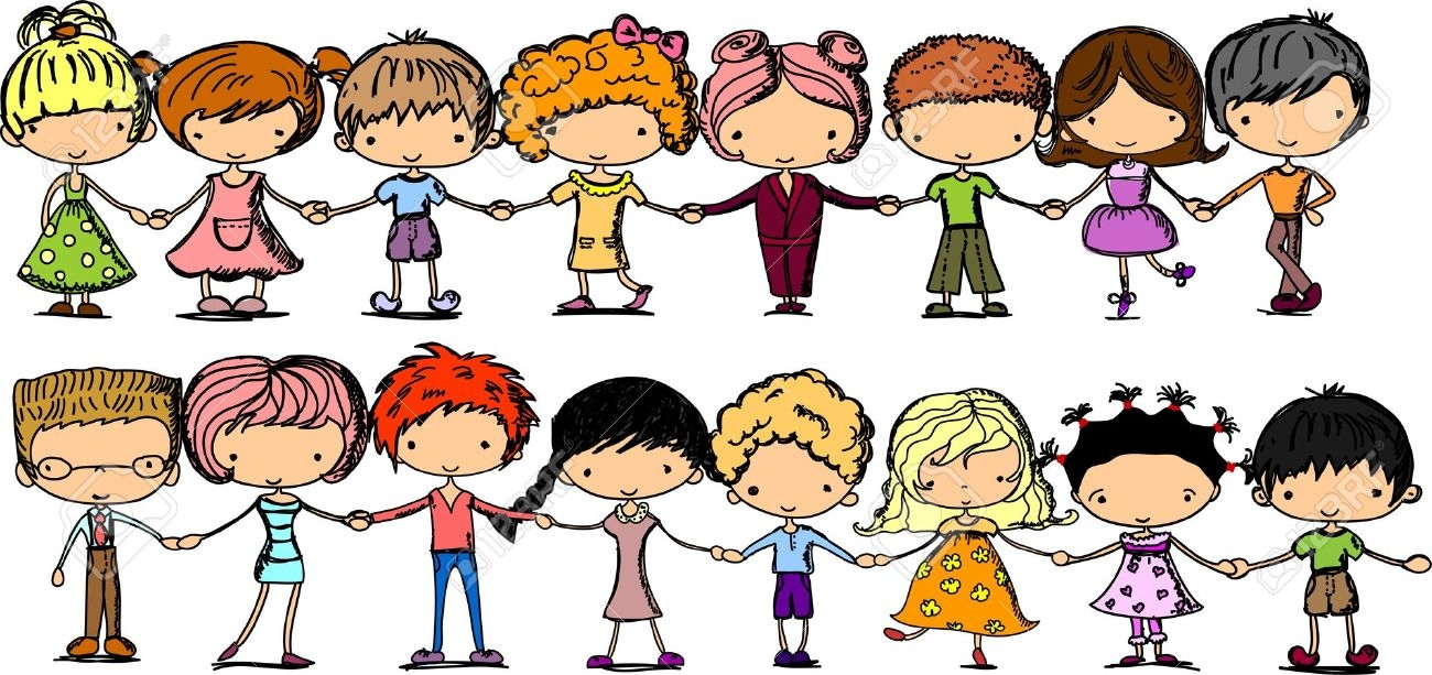 Children Clipart Holding Hands