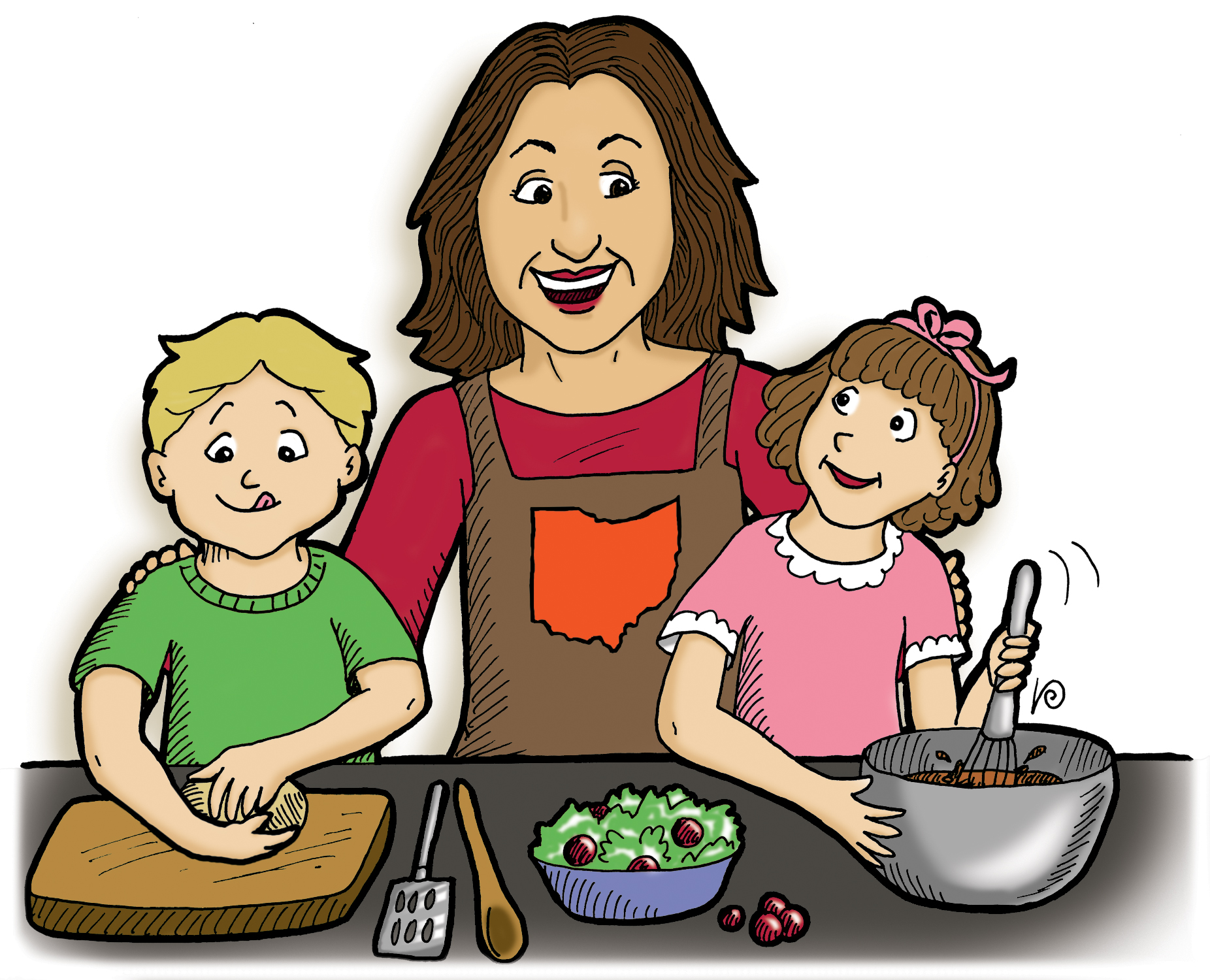 Children Cooking Cartoon Erwinnavyanto I-Children Cooking Cartoon Erwinnavyanto In-10