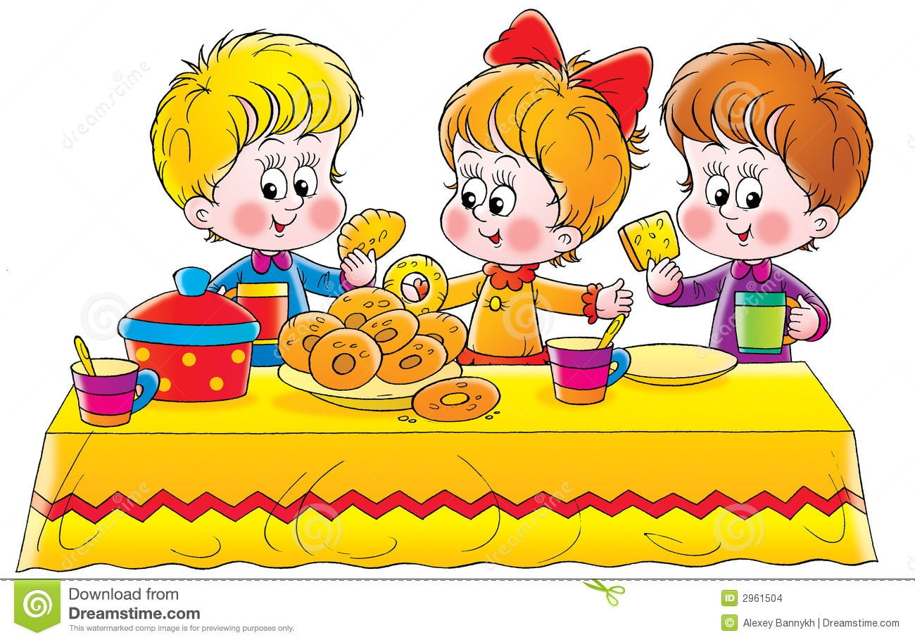 Children Eating Clipart - Children Eating Clipart
